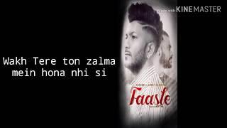 Faasle (lyrics)  G Khan, Garry Sandhu I sha Ali