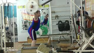 Бикмулин Илья, 12 лет, вк 77 Рывок 25 кг на 2 раза