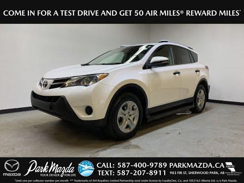 WHITE 2013 Toyota RAV4 LE Review   - Park Mazda