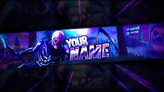 FREE SKULL TROOPER BANNER TEMPLATE! | Fortnite