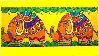 How to draw mandala elephant - mandala easy