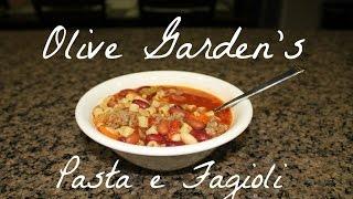 Recipe: Olive Garden's Pasta E Fagioli