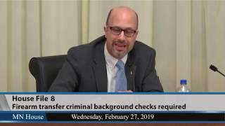 House Public Safety and Criminal Justice Reform Finance and Policy Division - part 2  2/27/19