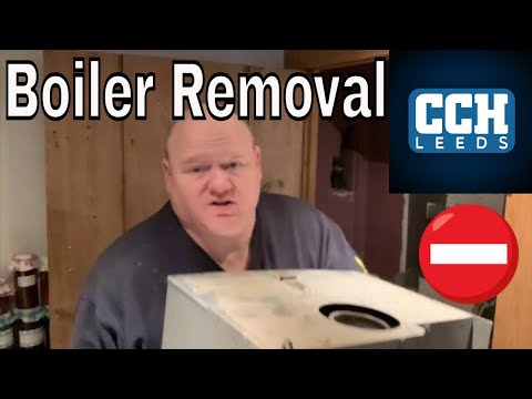 Plumber - Boiler Replacement - Removing A Worcester Bosch 27 CDI