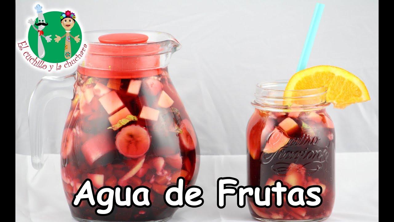 Deliciosa agua de frutas muy saludable y rejuvenecedora - Cuchillo para fruta ...