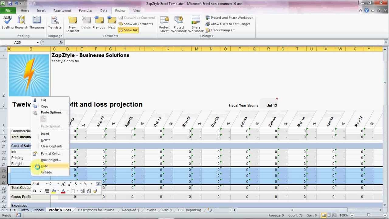 zapztyle s excel template the simple alternative to accounting