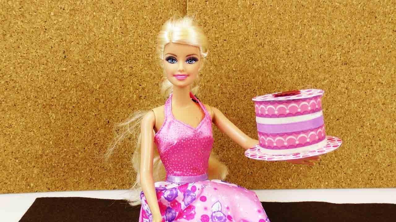 Diy Barbie Sahnetorte Aus Papier Zum Spielen Und Dekorieren