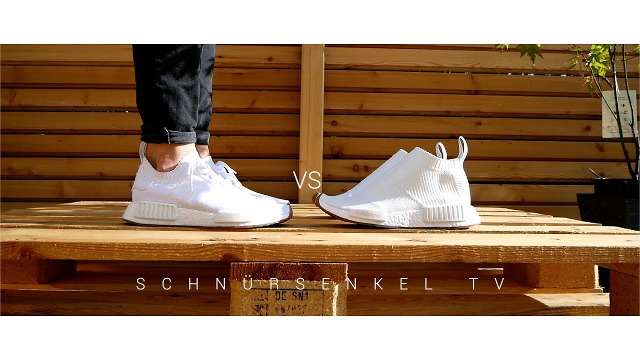 detailed look db8cc 3a2bf adidas NMD R1 vs CITY SOCK Gum Pack Version PRO/CONTRA review unboxing  german