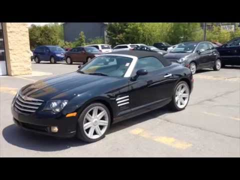 used 2008 chrysler crossfire limited roadster black for sale kingston ontario youtube. Black Bedroom Furniture Sets. Home Design Ideas