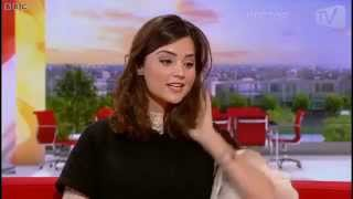 Jenna Louise Coleman on BBC Breakfast Dec 2012