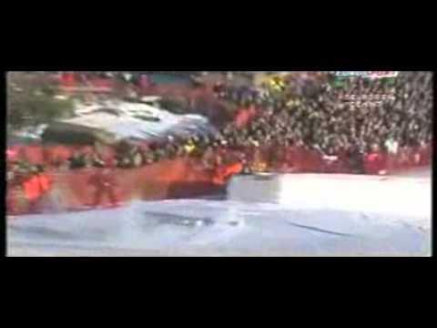 Daron Rahlves big crash - Adelboden giant slalom 2005