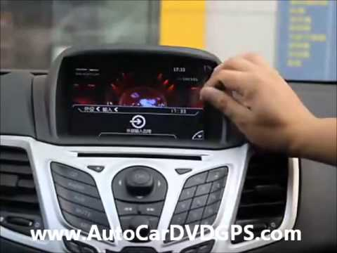 7 Car DVD Player GPS Navigation for Ford Fiesta 2009 2010 2011 2012 2013 2014 - YouTube