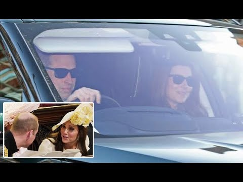 Prince William and Kate return to Kensington Palace after Harry and Meghan wedding