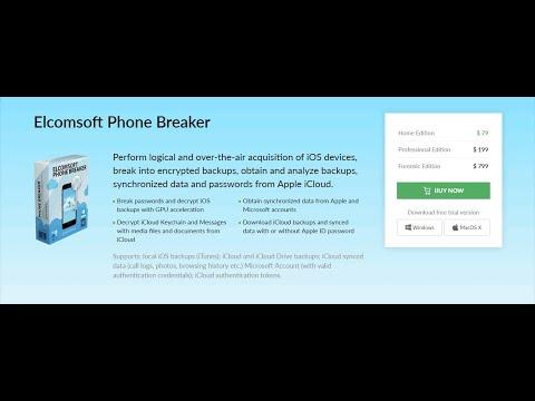 Elcomsoft Phone Breaker BlackBerry, Apple, Microsoft Password Unlock And Recovery Best Software