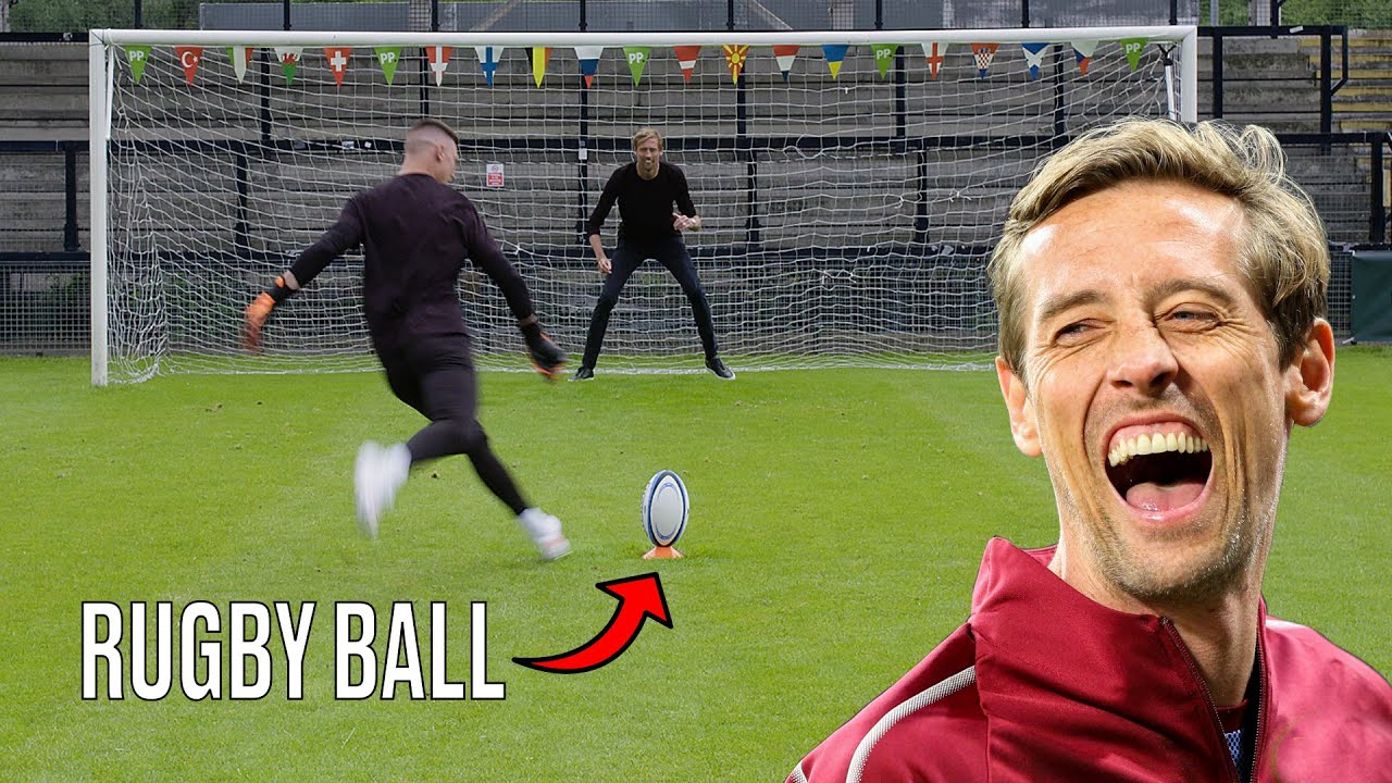 Peter Crouch Is A TERRIBLE Goalkeeper | New Balls Please | @LADbible TV
