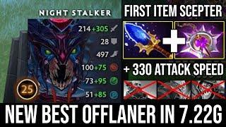 Infinite Nighttime!!! First Item Scepter + 330 Attack Speed Offlane Nightstalker Ez Deleted Slark