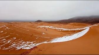 Im Januar: Schnee in der Sahara