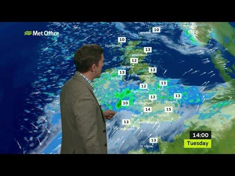 Tuesday morning forecast 24/04/18