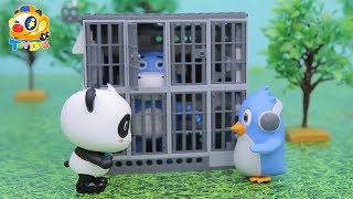 Super Panda Rescues Friend Hank | Defeat Bad Pig Leonard | Angry Birds Story | Toy Story | ToyBus
