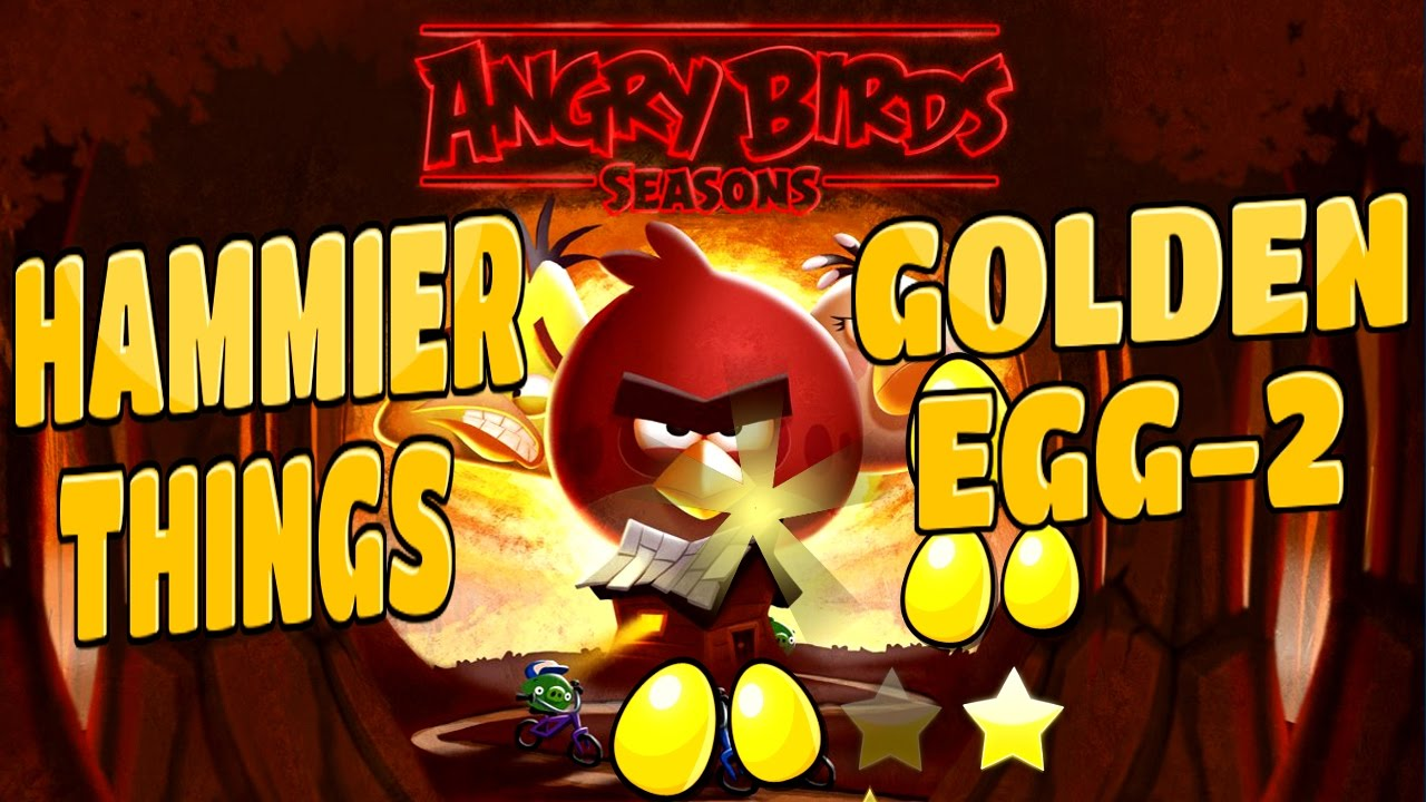 Angry Birds Hammier Things angry birds seasons-hammier things golden egg level-2 walkthrough
