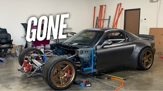 We cut the Front off the AWD 4 Rotor RX-7! Tube Time