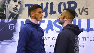 MARTIN J WARD v JULI GINER - HEAD TO HEAD @ FINAL PRESS CONFERENCE (EUROPEAN TITLE CLASH)