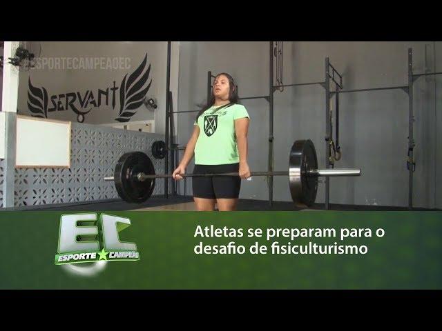 Atletas se preparam para o desafio de fisiculturismo