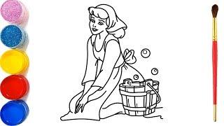 Gambar cover Vẽ công chúa lọ lem và tô màu cho bé | Dạy bé vẽ | Dạy bé tô màu | Princess Drawing and Coloring