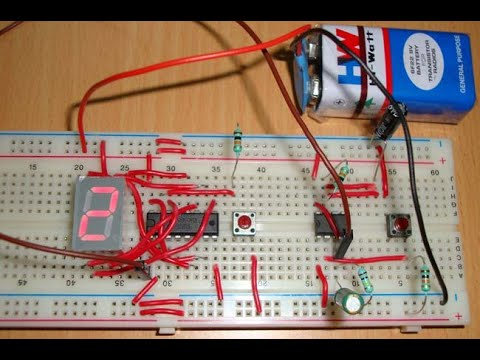 7 Segment Counter using 555 and IC 4026