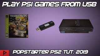Play PS1 Games From PS2 USB Using Popstarter and OPL Tutorial (2019)