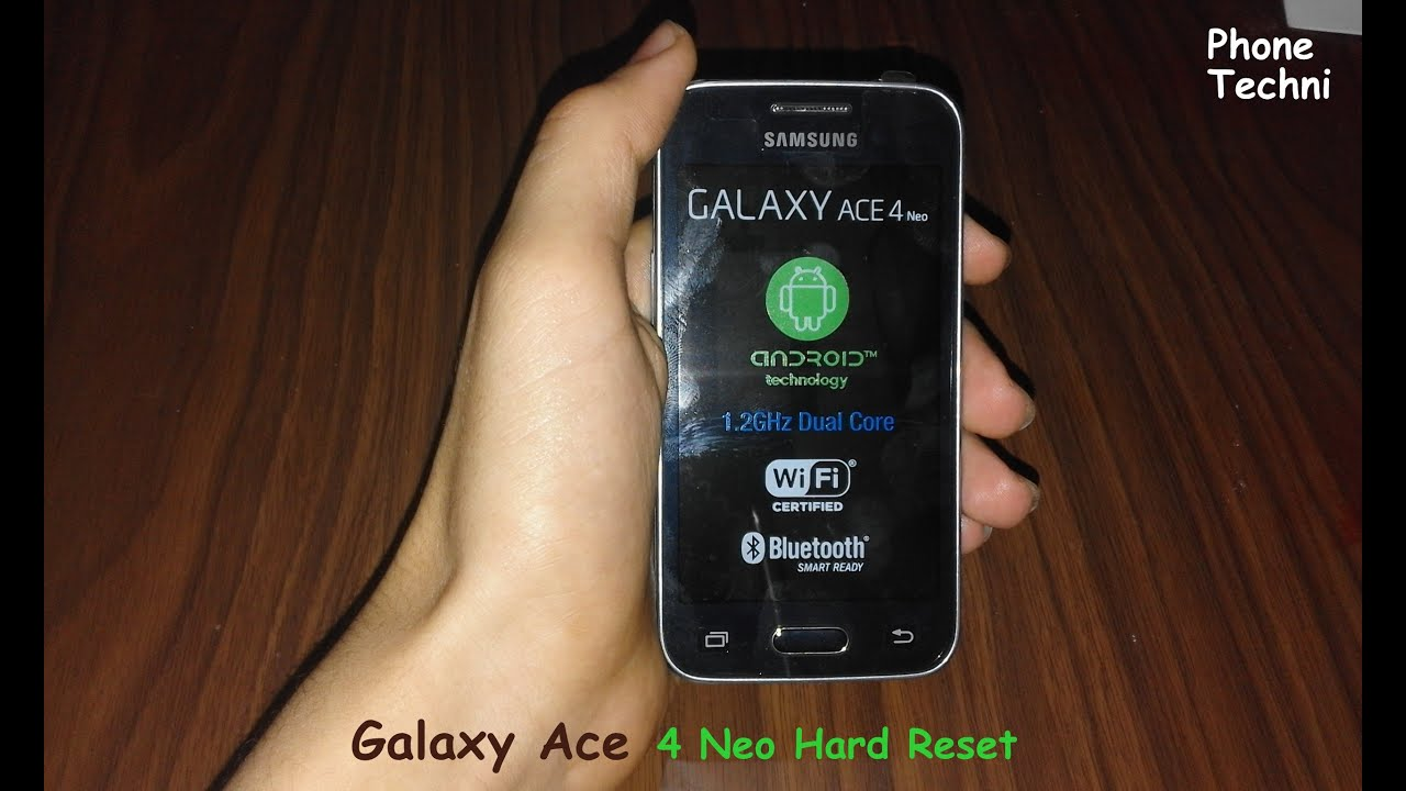 Samsung Galaxy Ace 4 Neo SM G318H Hard Reset