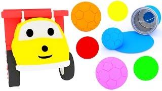 Graj w piłkę nożną i ucz się kolorów z Ethanem Wywrotką   bajka edukacyjna dla dzieci i niemowlaków