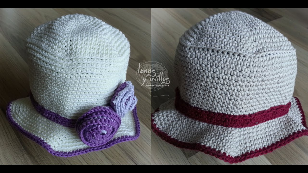 Tutorial Gorro Verano Niño Fácil Crochet o Ganchillo - YouTube