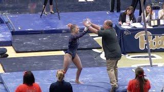 Gymnastics   Event Titles   Pitt Defeats #21 WVU