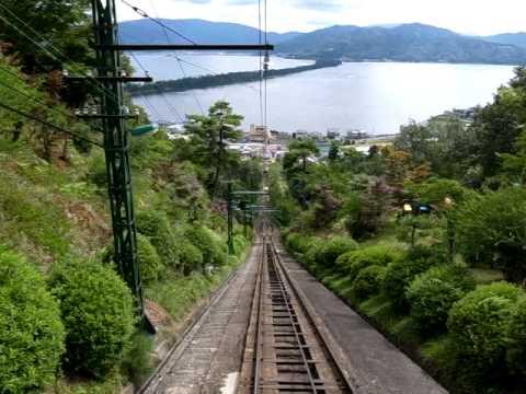天橋立、ケーブルカーの車窓から Amano Hashidate Kyoto,Japan (Cable car)