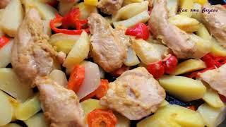 КАРТОШКА с КУРИЦЕЙ в духовке Сытный Вкусный ОБЕД УЖИН на всю семью Potatoes and chicken recipe