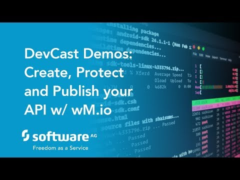 DevCast Demo: How to create, protect and publish an API with webMethods.io API