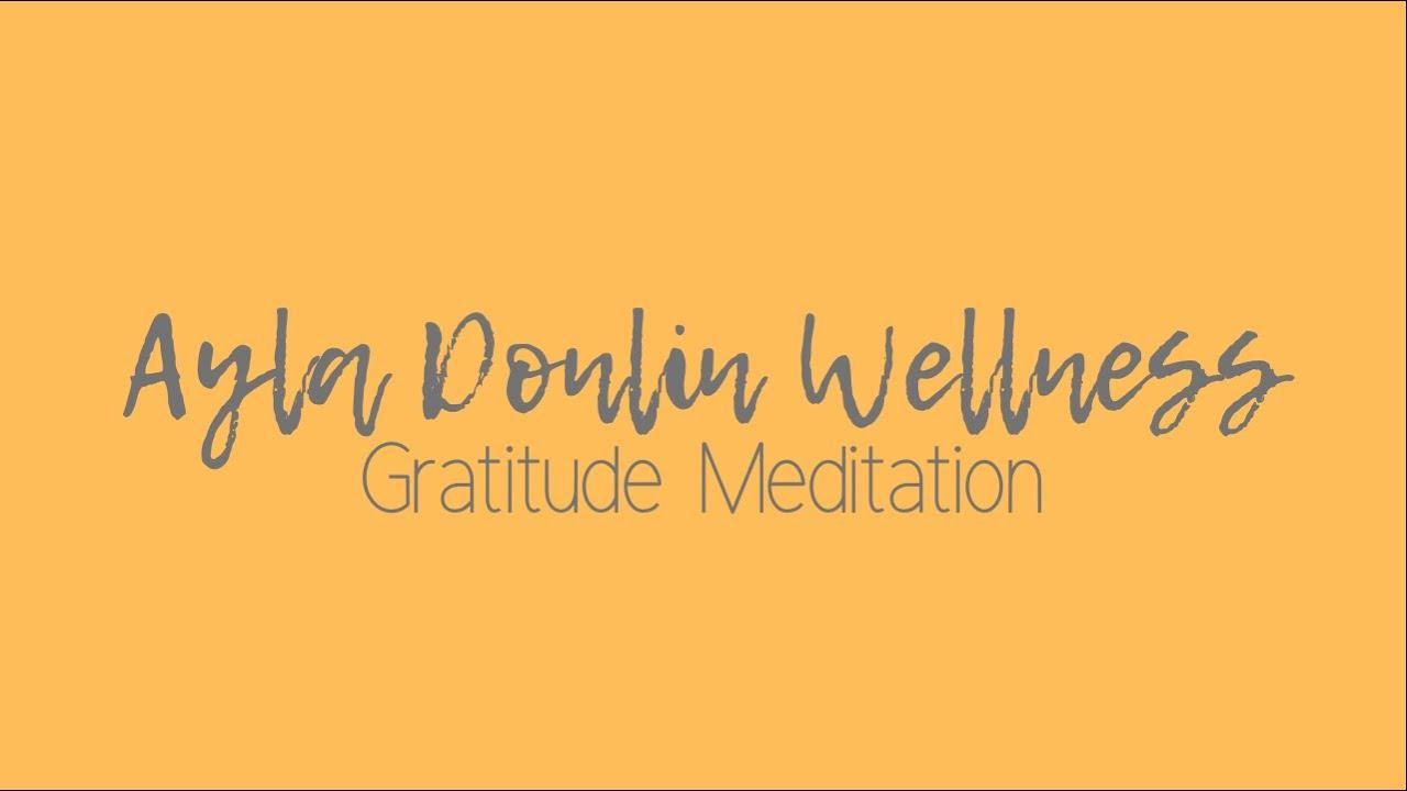 The Gratitude Meditation