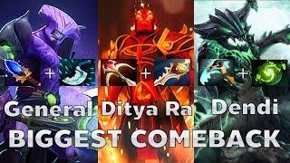 Dendi+Ditya Ra+General BIGGEST COMEBACK! Na