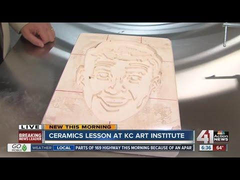 Ceramics lesson at KC Art Institute