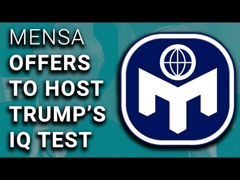 Mensa Offers to Host IQ Test for Trump & Tillerson