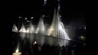 Dubai Fountain Show on New Year's Day (Jan. 1, 2014)