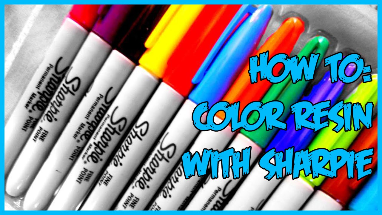 Resin Tutorial : Coloring with Sharpie - YouTube