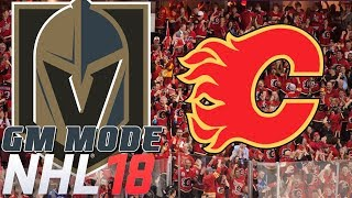 WESTERN CONFERENCE FINALS Calgary - NHL 18 - GM Mode Commentary - Vegas ep. 24