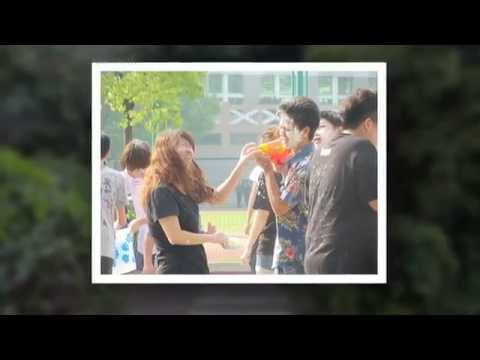 เล่นสงกรานต์ที่เมืองจีน สอนเพื่อนต่างชาติพูดภาษาไทย ซัมเมอร์จีนโรงเรียนหรงหวาย