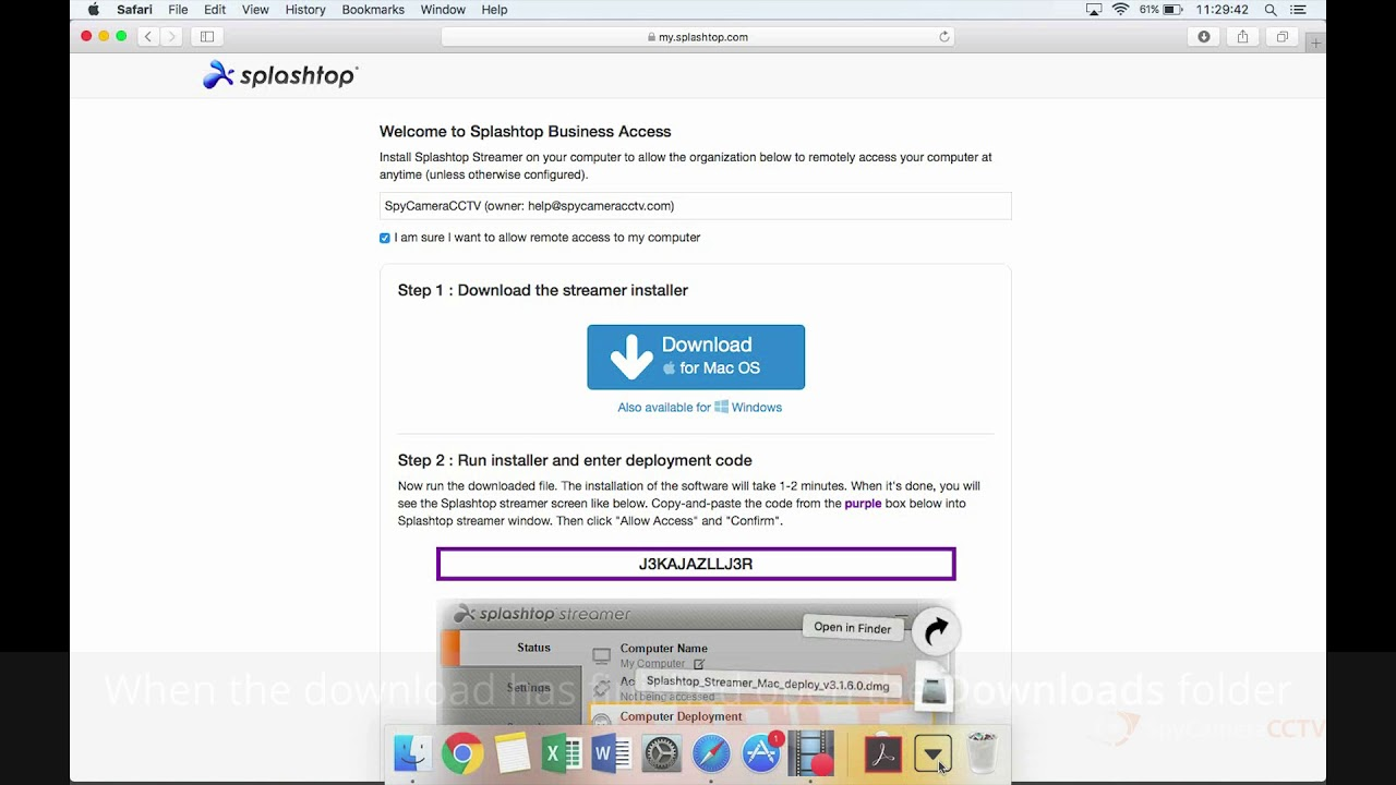 How To Set Up Splashtop Remote Support Software on Mac