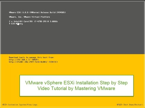 ESXi 6 Installation Step by Step
