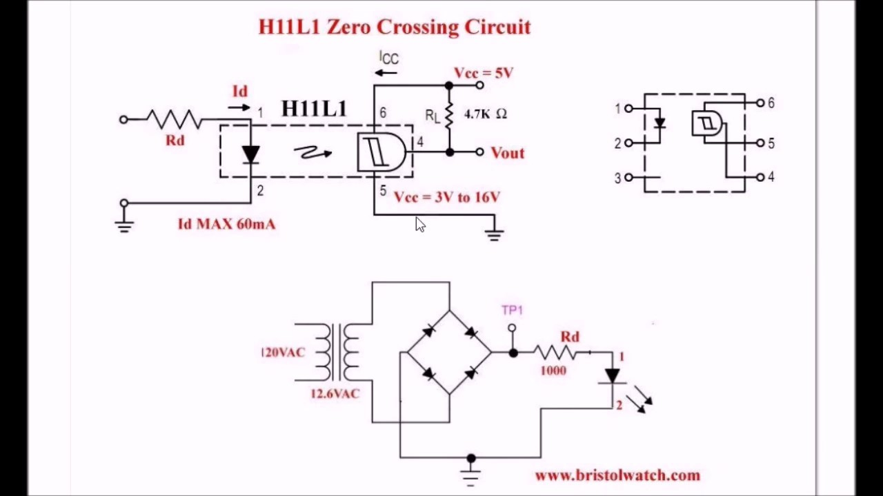 H11L1 Optocoupler based Zero-Crossing Pulse Detector on