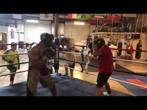 Sparring #3 and heavy bag training