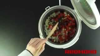 Охотничье рагу в мультиварке видео рецепт для Redmond RMC M4503